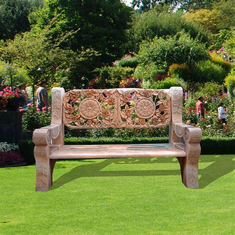 marble garden bench marble garden bench with flower carving vincentaa sculpture