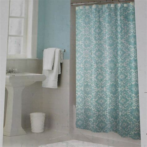 shower curtain aqua springmaid leandra sea mist aqua fabric shower curtain target