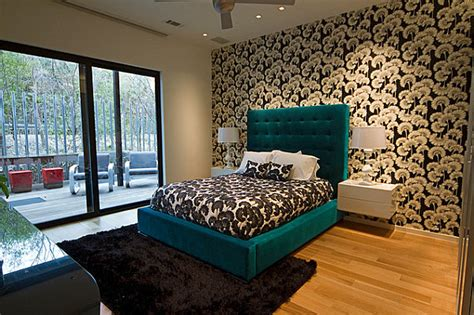 green and teal bedroom teal green bed in a modern bedroom decoist