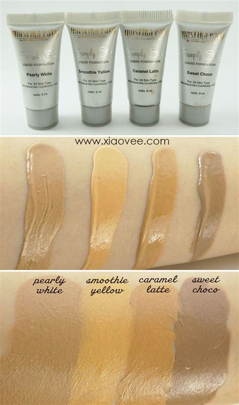 Harga Mustika Ratu Liquid Foundation xiao vee everyday with simply