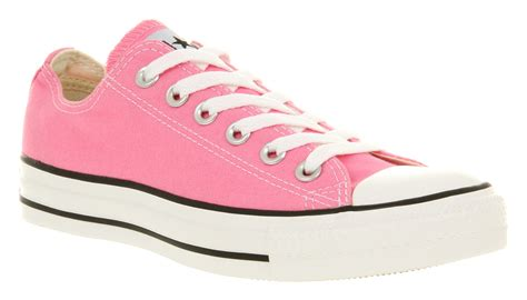 Converse All Pink Low mens converse all low pink canvas trainers shoes ebay
