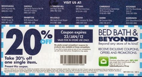 bed bath beyond in store coupon free printable coupons bed bath and beyond coupons