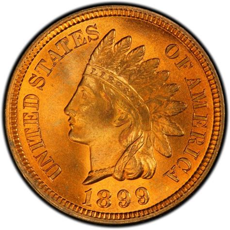 1899 indian head pennies values and prices past sales coinvalues com