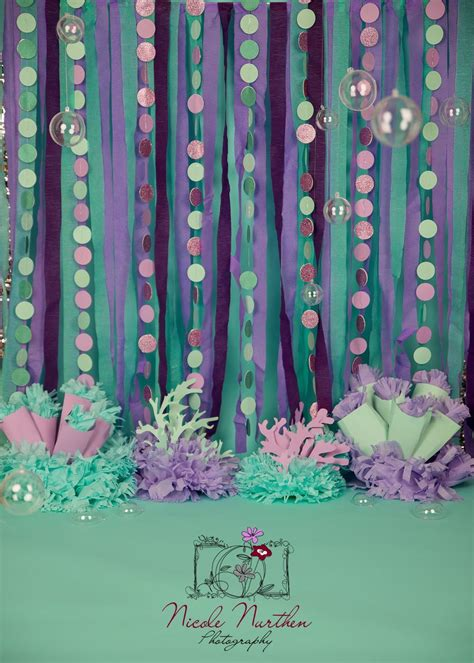 adornos para mesa cumple ariel backdrops mermaid and mermaid