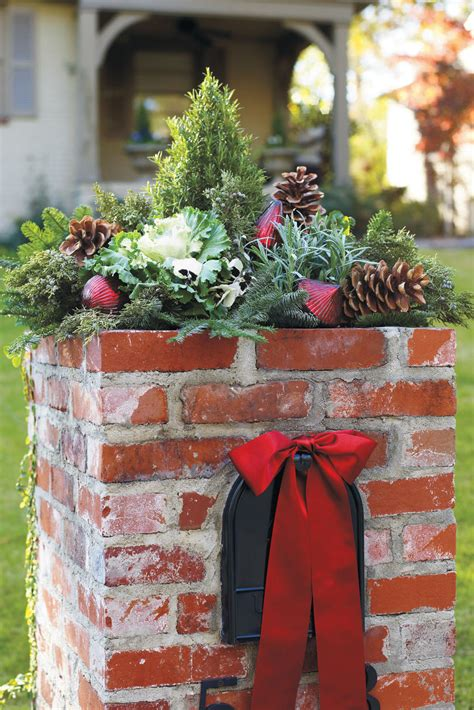 how to decorate a square brick mailbox for christmas 100 fresh decorating ideas southern living