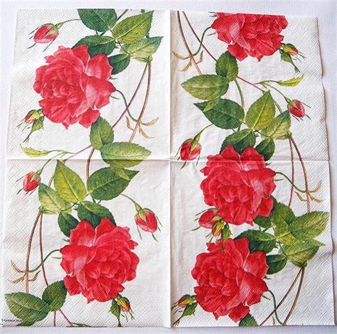 Decoupage Roses - decoupage napkins of chiarotino