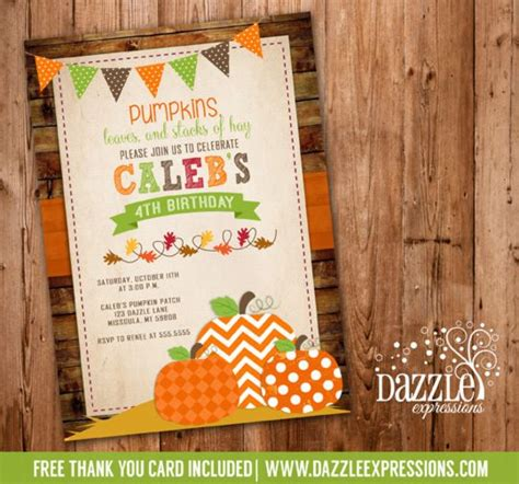 birthday falls on new year invitations thank you cards and pumpkin patch