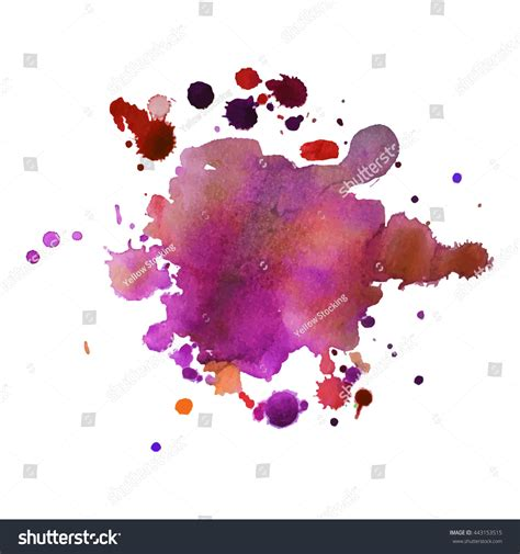 expressive abstract expressive abstract watercolor stain splashes drops stock