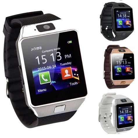 android smartwatch dz09 bluetooth smart phone sim card for android ios phones ebay