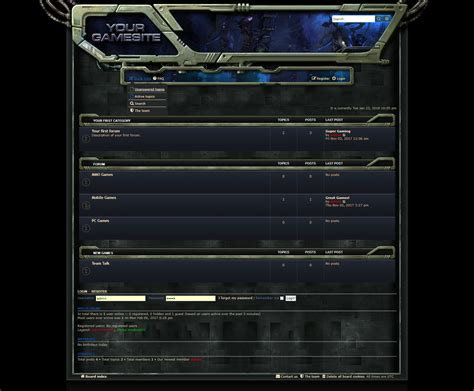 Php Forum Templates Free by Sci Fi Forum Skin Phpbb