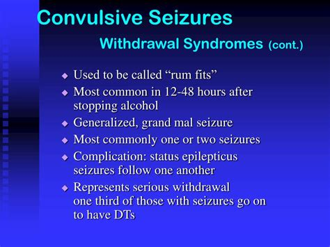 Seizures After Detox by Ppt Chapter Six Complications Powerpoint