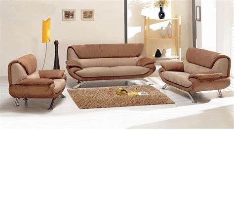 Modern Fabric Sofa Set by Dreamfurniture Divani Casa 7040 Modern Fabric Sofa Set
