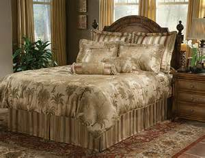 tropical bedding comforter sets in palm trees in queen and