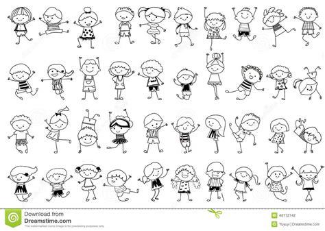 D T Auto Kinder La by Gruppe Kinder Zeichnende Skizze Vektor Abbildung Bild