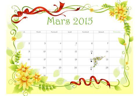 Calendrier 7 Mars 2015 Calendrier Fleuri Mois De Mars 2015