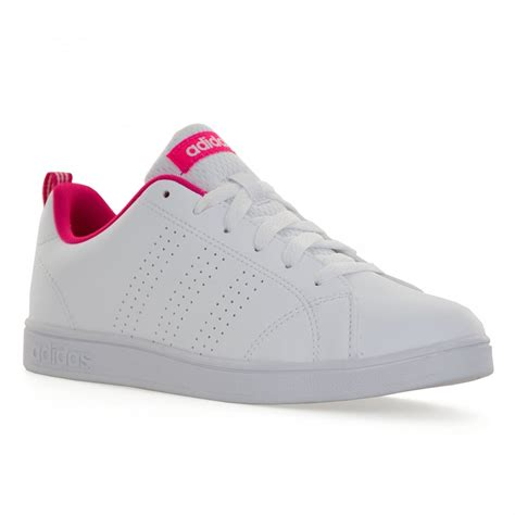 adidas neo advantage adidas neo juniors advantage clean trainers white pink