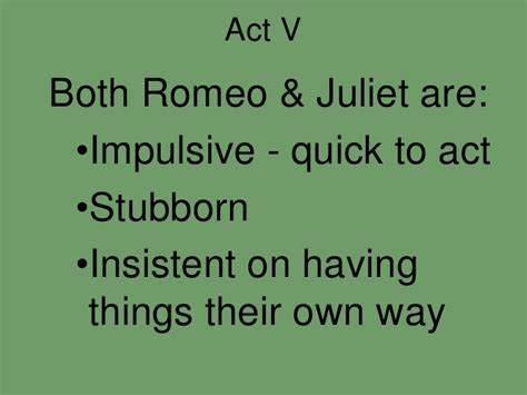 themes romeo and juliet act 4 romeo and juliet act 5 final