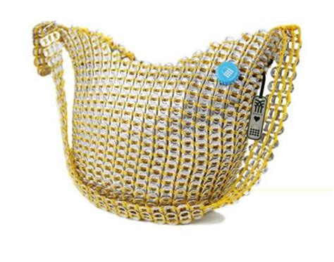 The Fenchurch Bottletop Bag by Pop Top Hobo Style Bag Soda Pop Top Creative Recycling