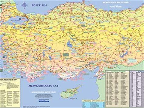 turkey archaeological sites map tutku tours turkey maps archaeological map of turkey
