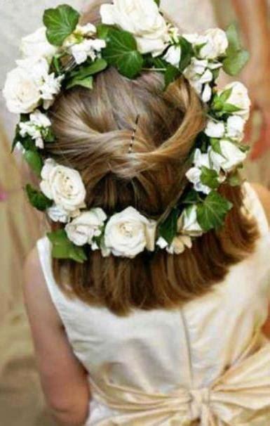 white wedding hairstyles flower girl s flower crown toni kami flower girls corona