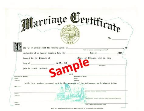 Oregon Marriage Records Free Archives Backuppool