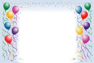 happy birthday photo frame template birthday balloons border fantastic frames 25679wall jpg
