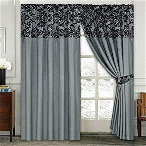 grey patterned pencil pleat curtains luxury damask curtains pair of half flock pencil pleat