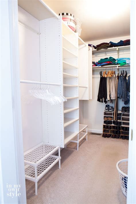 Easy Track Closet System by Clothes Closet Organizing Ideas In My Own Style