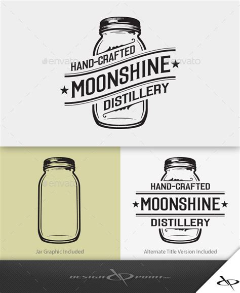moonshine distillery logo graphicriver