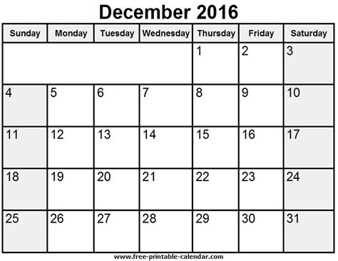 december desk calendar printable december 2016 printable calendar templates free