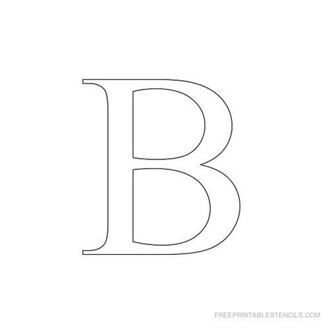 free printable letter stencils for crafts printable times new roman alphabet stencil b crafts