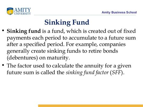 Sinking Fund Gives For The Future by Lecture 4 Time Value Of Money