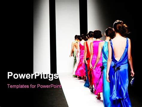 best powerpoint template models on the catwalk during a