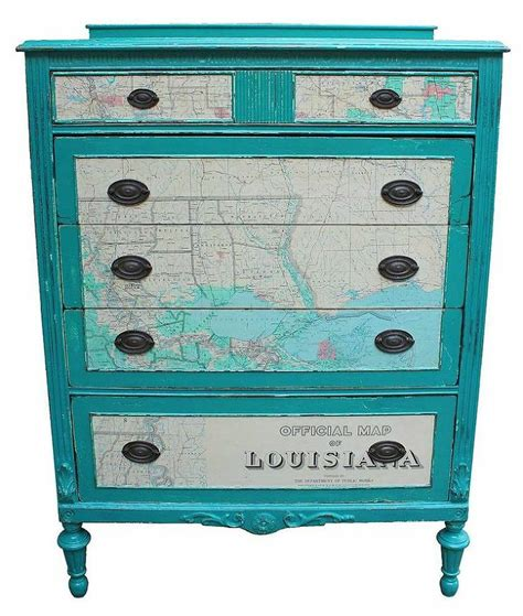 Map Chest Of Drawers by Chest Of Drawers With 1965 Map As Accents