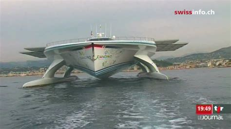 largest hydrofoil boat swiss solar boat on a world wide mission youtube
