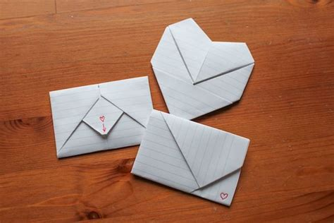 Paper Folding Ideas - how to fold origami notes for valentines day like you did