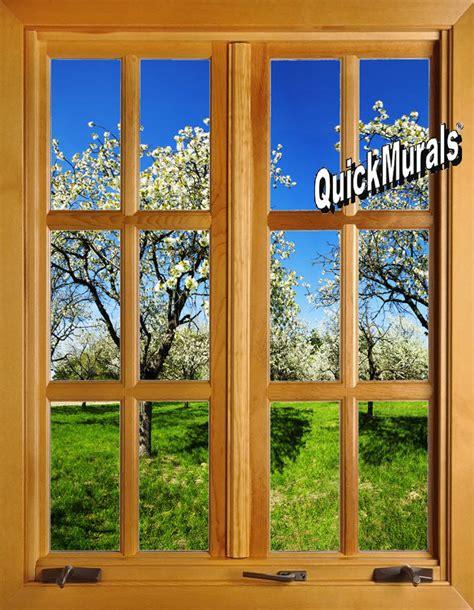 window wall mural apple blossom window closed 1 peel stick wall mural themuralstore