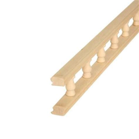 Decorative Trim Home Depot Waddell 550 3 4 In X 2 1 4 In X 48 In Maple Rail Moulding 10001535 The Home Depot