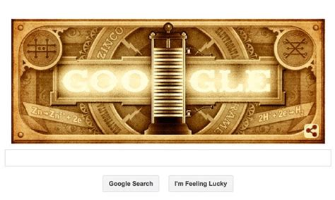 doodle volta alessandro volta lights up for inventor of the