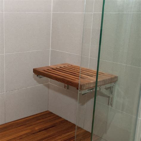 fold down teak shower bench teak wall mount fold down shower bench with slats
