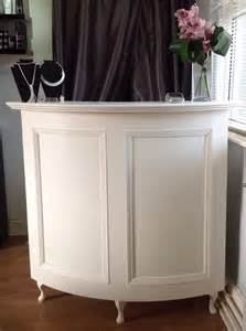curved salon reception desk french style shabby chic painted cream ebay