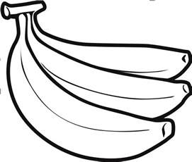 banana coloring page banana clipart black and white bananas for books