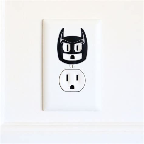 wall sticker outlet batman electric outlet wall sticker decal