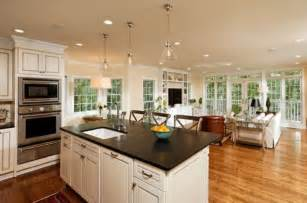 Open Kitchen Design With Island by Classic Open Kitchen Design For Small Home With White