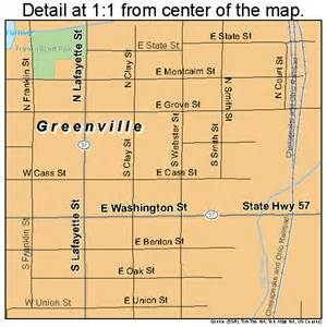 map of greenville greenville michigan map 2635100