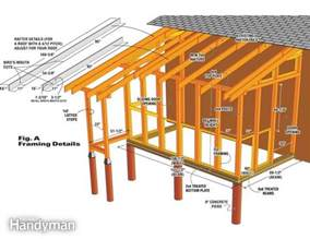 tack shed plans how to build a shed roof addition