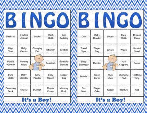 Baby Shower Gift Bingo Cards - 100 baby shower bingo cards printable party baby boy