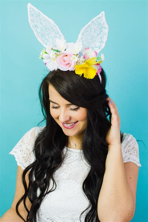 the foolproof guide to making bear ears gurl com gurl com diy floral bunny ears for your maids or flower gals