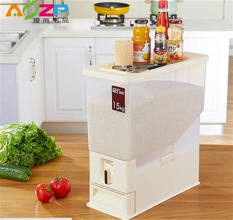 smart shop murah malaysia rice dispenser 5kg 10kg 15kg keep rice clean from pests