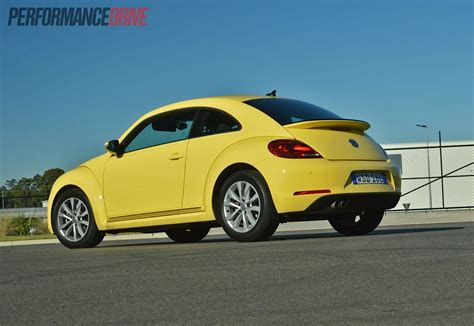 volkswagen bug yellow 2013 volkswagen beetle review video performancedrive